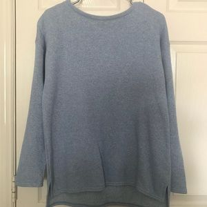 J. Crew light blue tunic pullover
